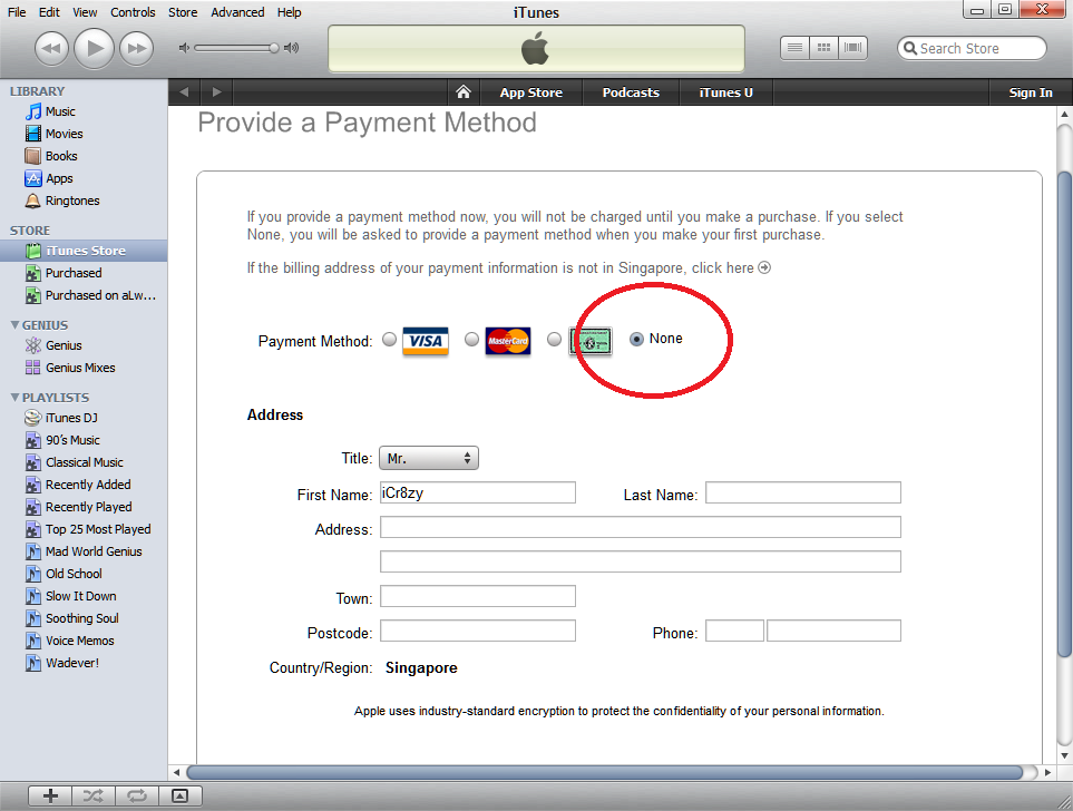limiting participation how to create apple account without credit card available under the